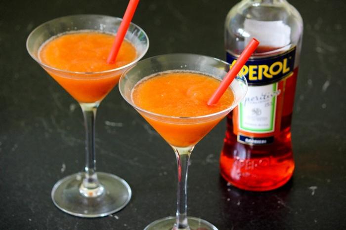 Orange-Aperol-Granita