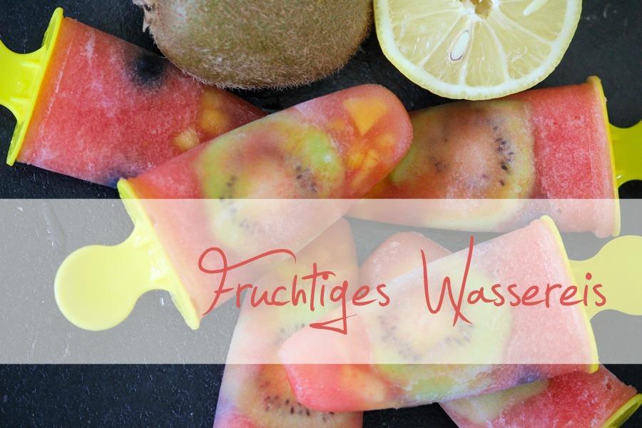 Fruchtiges Wassereis
