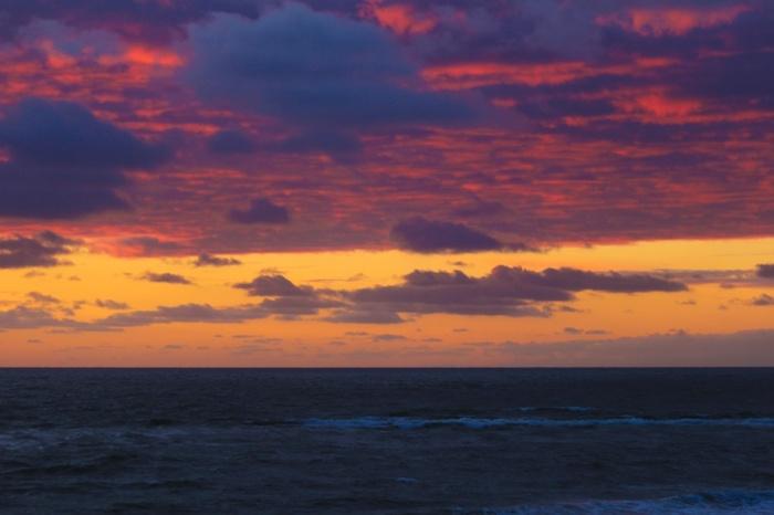 Sonnenuntergang in Houvig