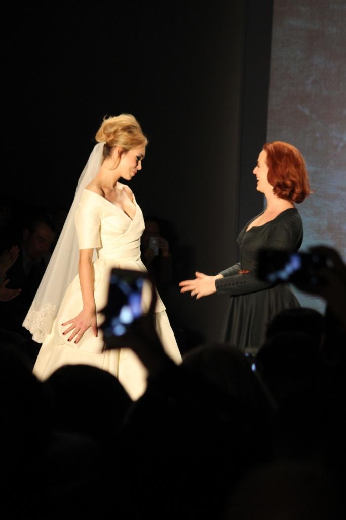 Die Designerin und ihr Model